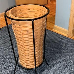 Longaberger umbrella basket and holder